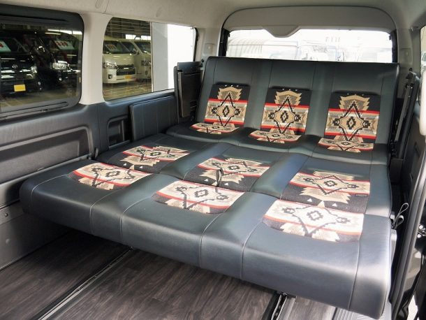 ハイエース200系_ワゴンGL_車中泊できる街乗り仕様車FD-BOX_ペンドルトンコラボ-オーバーオール-リムジン仕様1