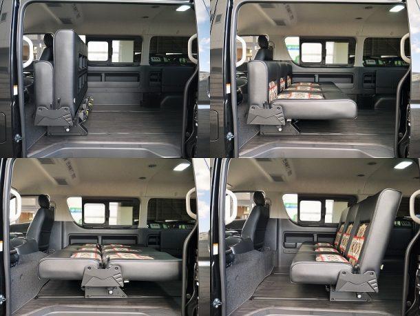 ハイエース200系_ワゴンGL_車中泊できる街乗り仕様車FD-BOX_ペンドルトンコラボ-オーバーオール-様々なシートアレンジf